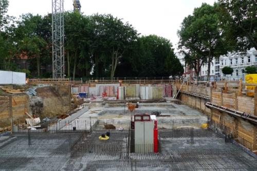 Baustelle Ottenser Marktplatz