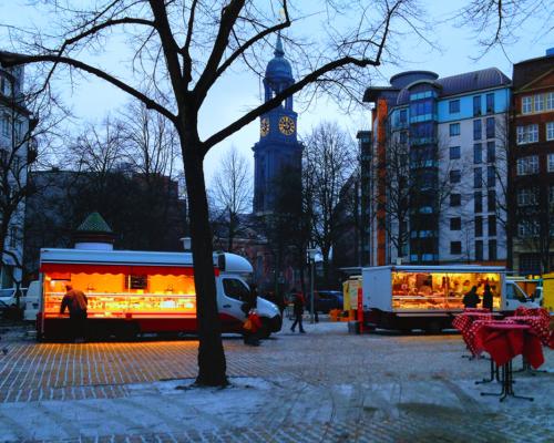 Wintermorgen am Großneumarkt, 22.1. 2014
