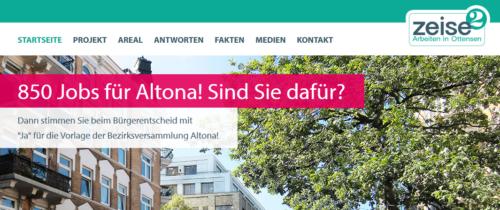 850 Jobs für Altona! - Webseite der Procom