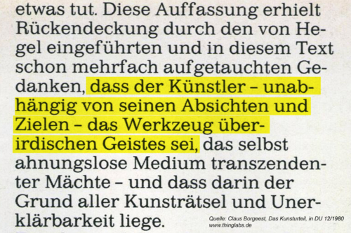 Der Grund aller Kunsträtsel - Aus Claus Borgeest: Das Kunsturteil