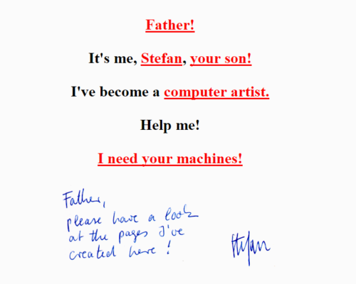 Screenshot Aliased Father -- Netart from 1995, New York