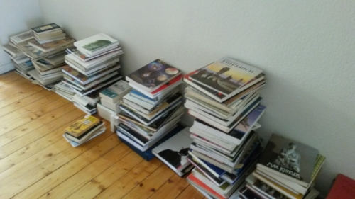 Kunstbücher, abgelegt