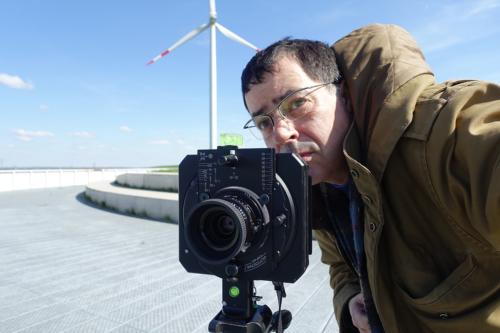 Selbst mit Kamera auf dem Energieberg Georgswerder