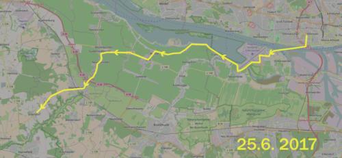 Karte Radtour von Altona nach Issendorf