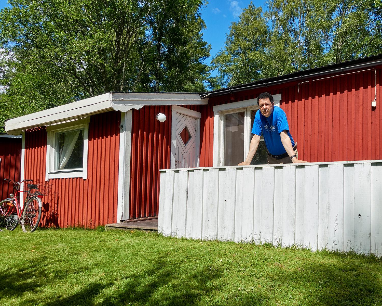 Selbst vor meiner Hütte in Schweden
