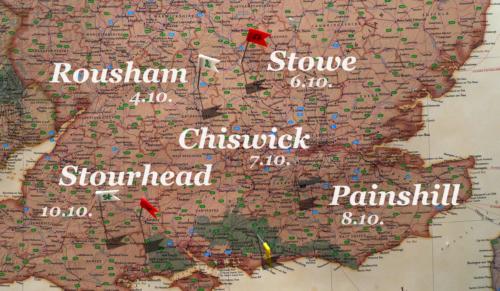 Karte: Landschaftsgärten in der Umgebung von London