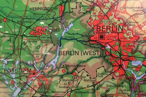 DDR-Karte von 1989 ohne Westberlin