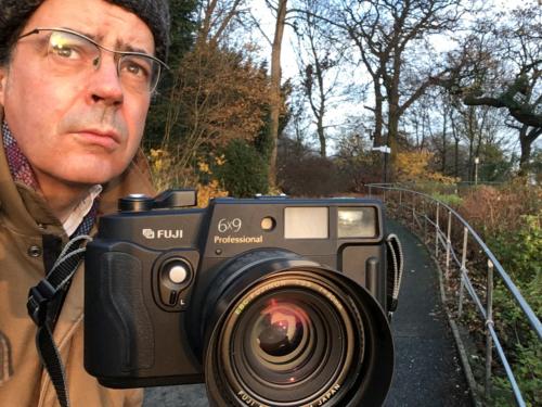 Mit Kamera Fuji GW690