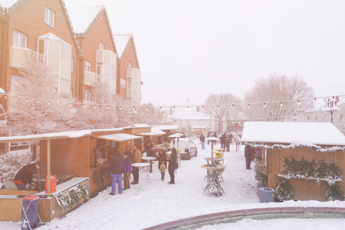 Weihnachtsmarkt Harheim im Schnee