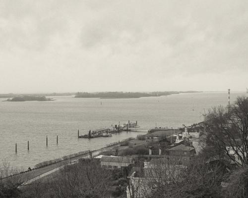 Elbe Blankenese. Über dem Strom, 31.12. 2017
