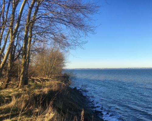 Steilküste. Blick Richtung Scharbeutz.