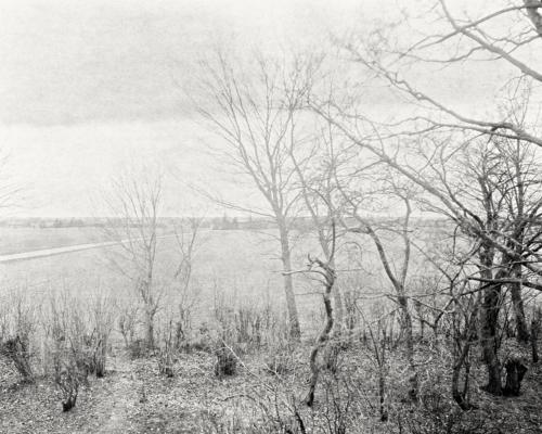 Blick aus dem Westzimmer ins Feld hinaus Richtung Horbelev