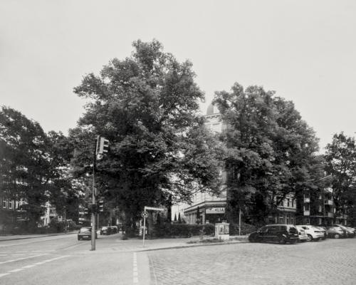 4x5 Großformat SW Papierbelichtung Ecke Friedensallee/Große Brunnenstraße - Hamburg Ottensen