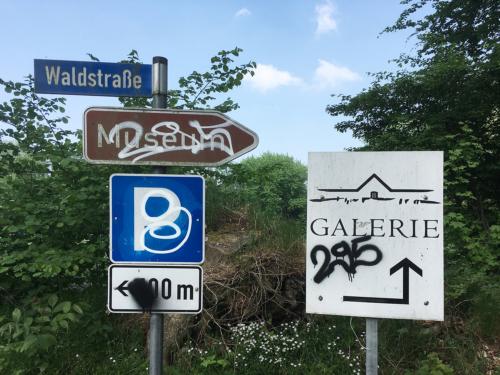 Schilder Und wo ist die Kunst?