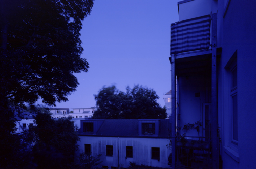 Blaue Abendstunde in Hamburg (Analog 6x9, Kodak Ektar 100)
