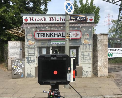 Aufnahmesituation am Kiosk Blohmstraße