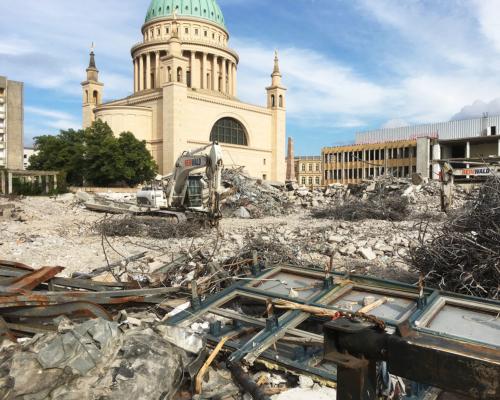 Abriss FH Gebäude am Alten Markt Potsdam