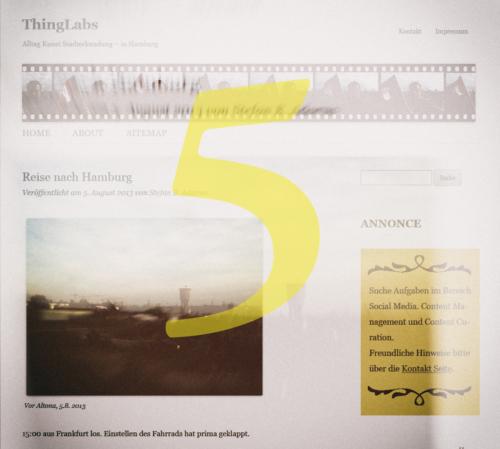 ThingLabs Startseite 2013, leicht verwischt