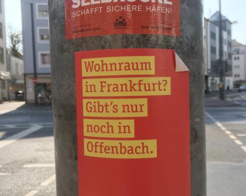 Wohnraum ... nur noch in Offenbach.