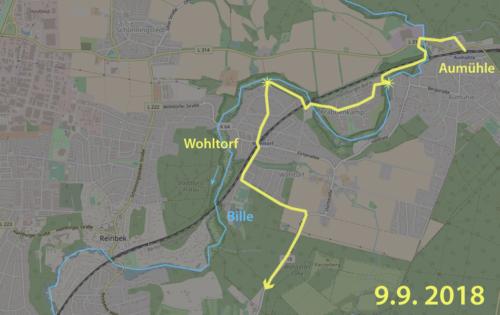 Karte Entlang der Bille von Aumühle nach Wohltorf