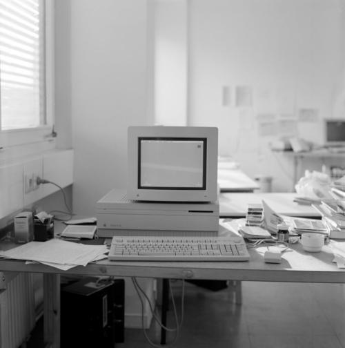 Mein erster Computer: Apple Macintosh IIfx am Institut für Neue Medien Frankfurt Februar 1991