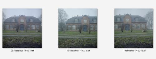 3 analoge 6x6 Bilder vom Falsterhus