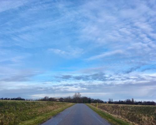 Über die Felder, Weg ins Dorf (Bregninge auf Falster)