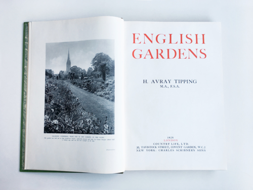 English Gardens von H. Avray Tipping - Frontispiz