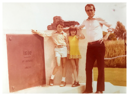 Mein Vater, meine Schwester und ich 1973 in Frankreich