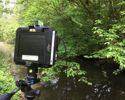 Mit der Großformat-Kamera an der Bille bei Aumühle
