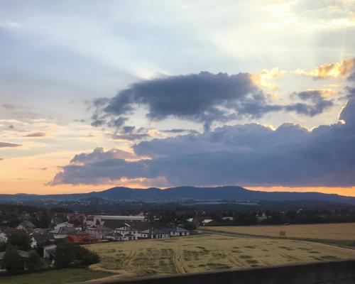 Landschaft vor Kassel, Abendstimmung