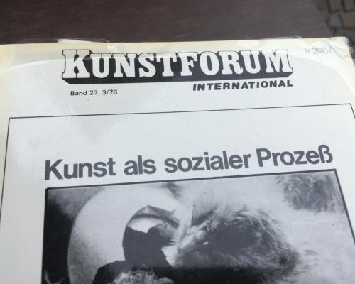 Kunstforum von 1978 Kunst als sozialer Prozess