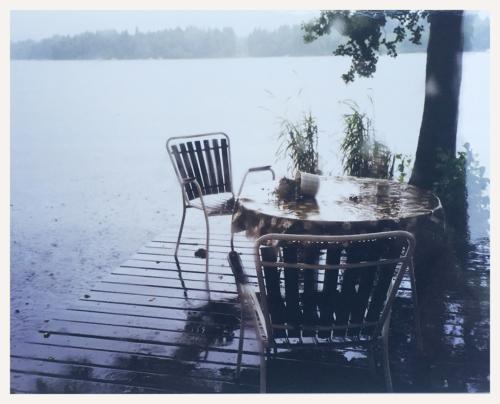 Regensturm auf dem See Sjöatorp während der Sonnenfinisternis vom 11. August 1999