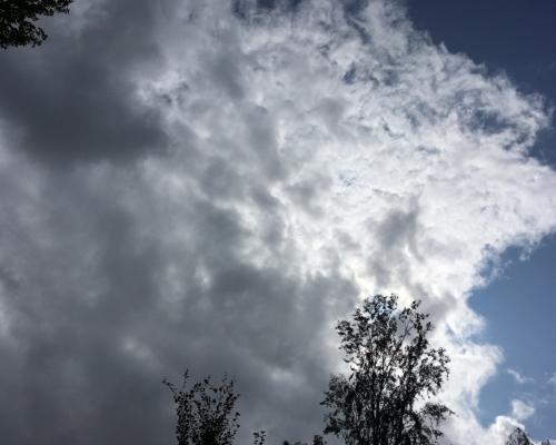 Aufziehende Regenwolken
